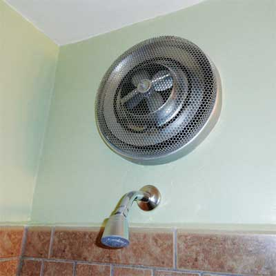 ungrounded shower stall heater installed in a working shower from home inspection nightmares gallery twenty-seven