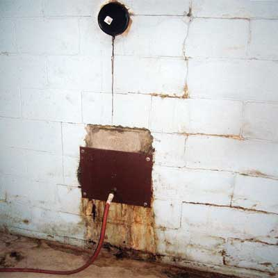 garden hose used as a drain for a leaking chimney from home inspection nightmares gallery twenty-seven