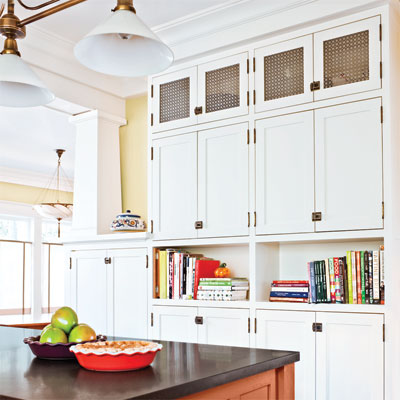 cabinet and island of craftsman kitchen remodel