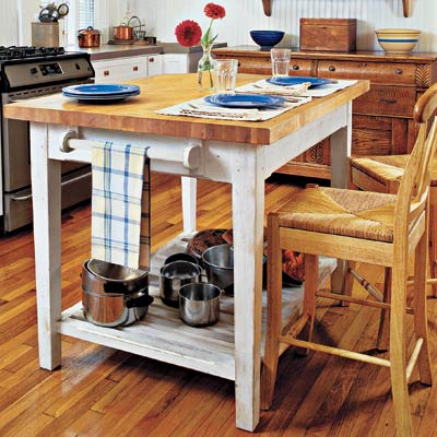 Build a butcher block island 32 easy kitchen upgrades for Kitchen upgrades