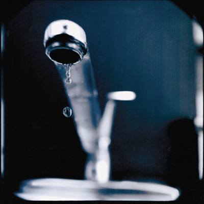 dripping singled-handled faucet