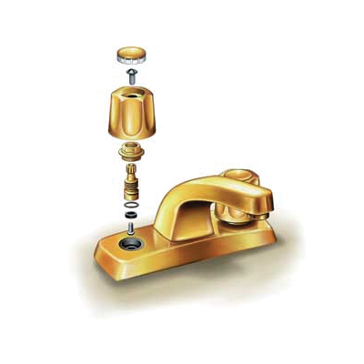 illustration of two-handled stem faucet