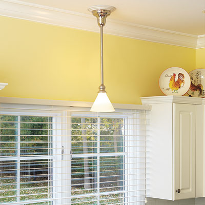 pendant light in kitchen
