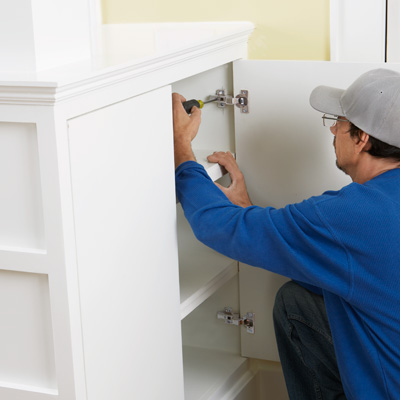 installing euro style hidden cabinet hinges, kitchen upgrades