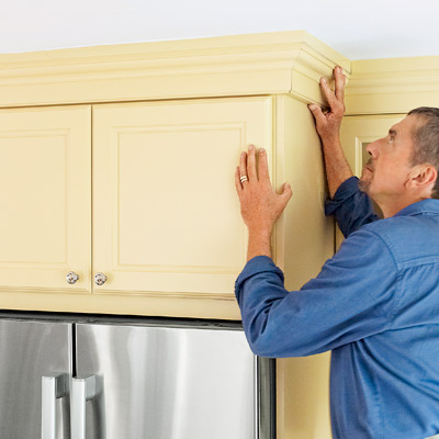 adding crown molding to top of kitchen cabinets, kitchen upgrades