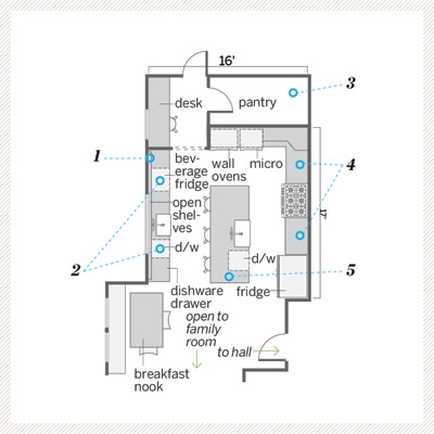kitchen floor plan after remodel