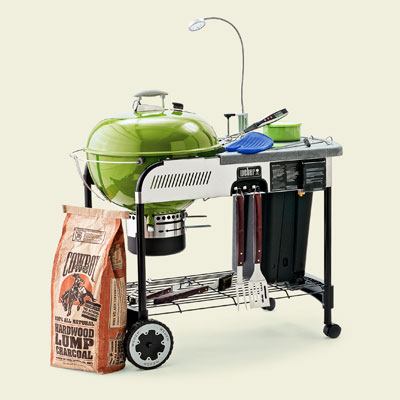 a rolling grill with accessories