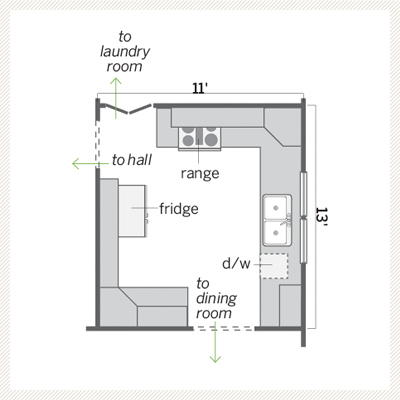kitchen floor plan before redo
