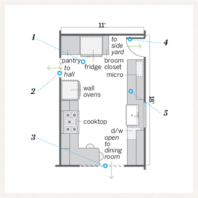 kitchen floor plan after redo 
