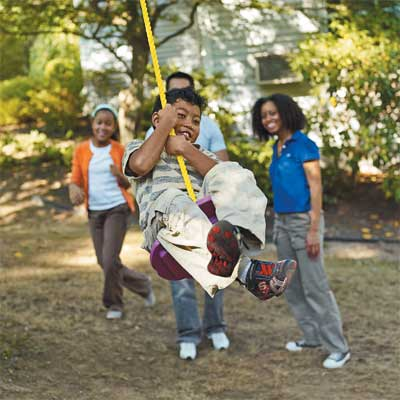 Hang a Tree Swing to Turn Your Home Into a Staycation Resort