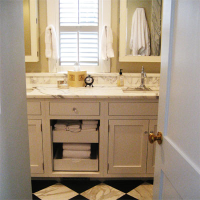 Luxury Hotel-Inspired Remodel: After from Best Bath Before and Afters 2012