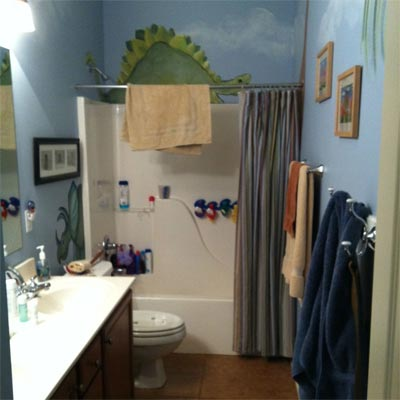Kids Love the New 'Beachy' Bathroom: Before from Best Bath Before and Afters 2012