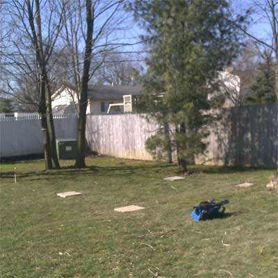 Swing Set for Triplets: Before in this old house reader remodel Best Sheds and Outbuilding Before and Afters 2012