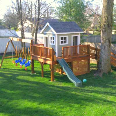 Swing Set for Triplets: After in this old house reader remodel Best Sheds and Outbuilding Before and Afters 2012