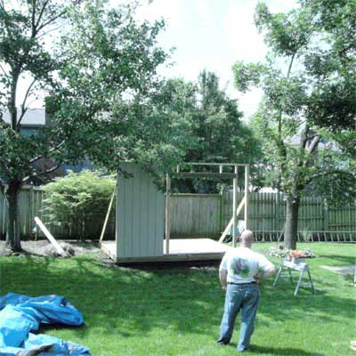 Extra Storage: Before  in this old house reader remodel Best Sheds and Outbuilding Before and Afters 2012