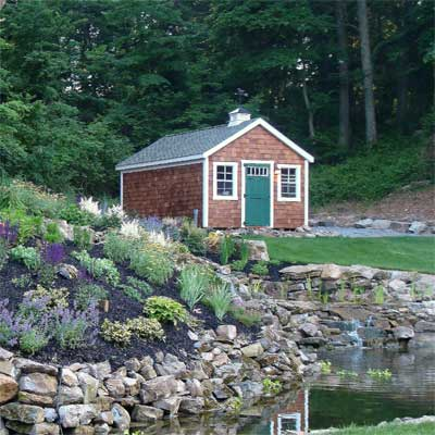 'Cottage' Overlooking a Pond: Before in this old house reader remodel Best Sheds and Outbuilding Before and Afters 2012