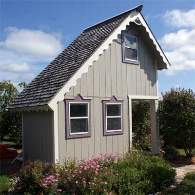 From Playhouse to Garden Shed: After  in this old house reader remodel Best Sheds and Outbuilding Before and Afters 2012