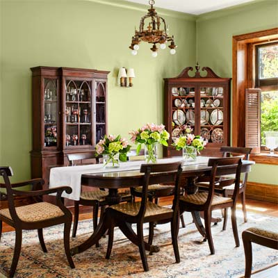 dining room of the this old house reader remodel grand prize winning house