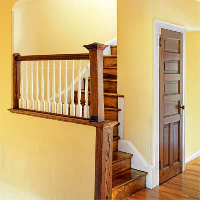 restored staircase of the this old house reader remodel grand prize winning house