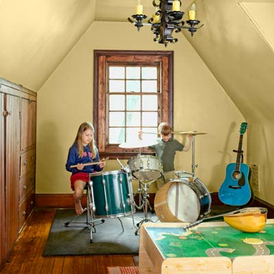 band room of the this old house reader remodel grand prize winning house