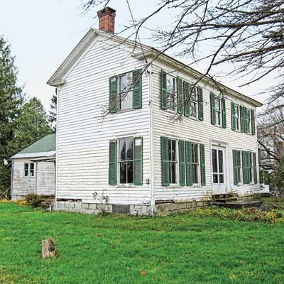 save this old house newport, new york circa 1850 Greek Revival farmhouse