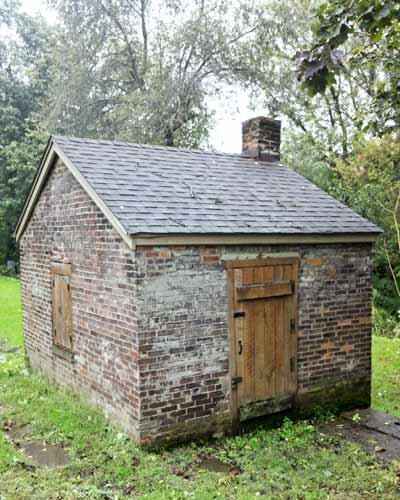 Save This Old House West Newton, Pennsylvania brick smokehouse in yard