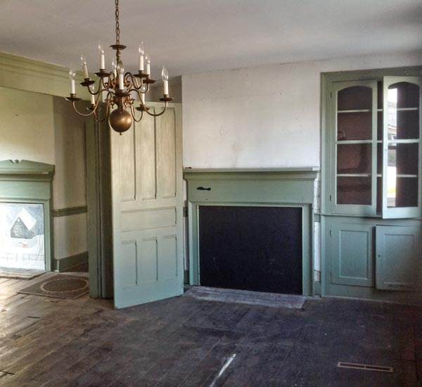 Save This Old House West Newton, Pennsylvania first floor parlors with original folding doors