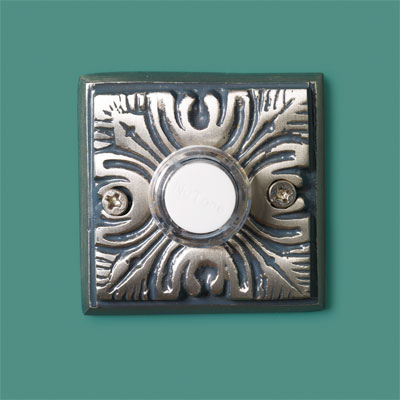Embossed Floral style doorbell