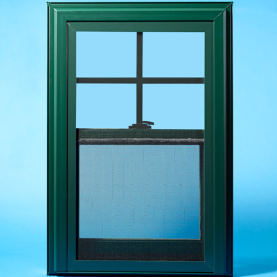 green vinyl window 