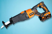 a Ridgid cordless reciprocating saw
