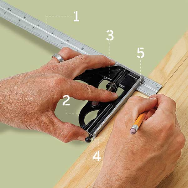 two hands using a combination square as part of a this old house tool test