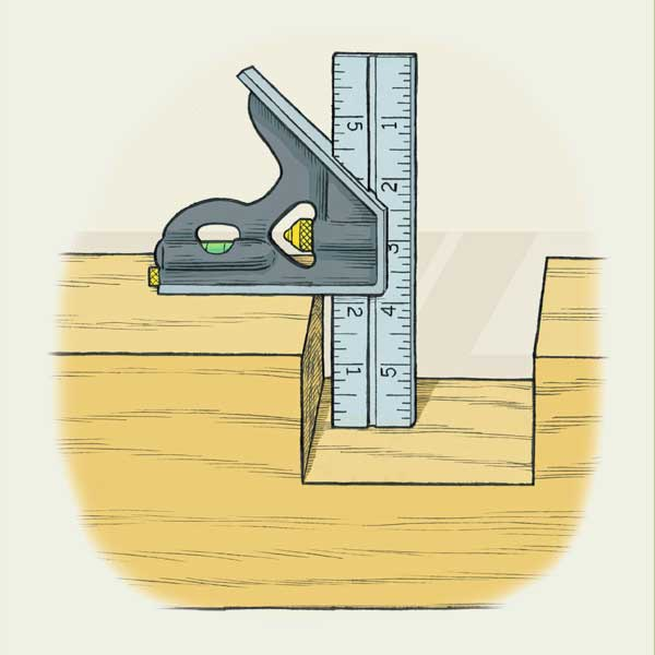 Norm's Techniques on how to mark and check notches as part of a this old house tool test