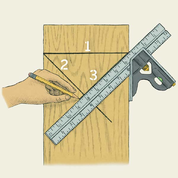 Norm's Technique on how to find the centerline as part of a this old house tool test