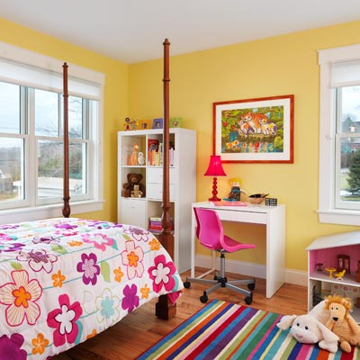 child's bedroom in above-the-garage addition