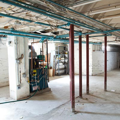 basement before remodel of TOH TV project house Cambridge