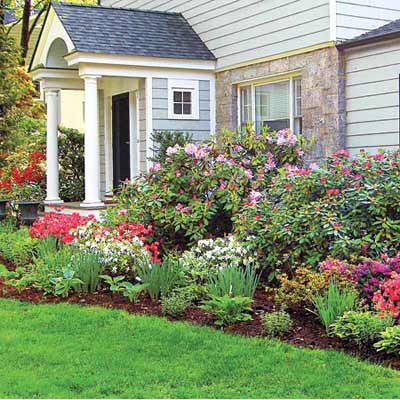 Tallest in back shortest in front best foundation for How to plant bushes in front of house