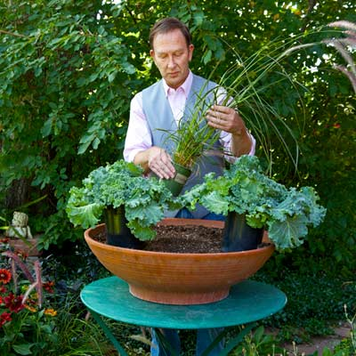 Rob Proctor planting container plants