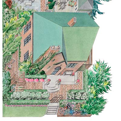 landscaping illustration plan front yard