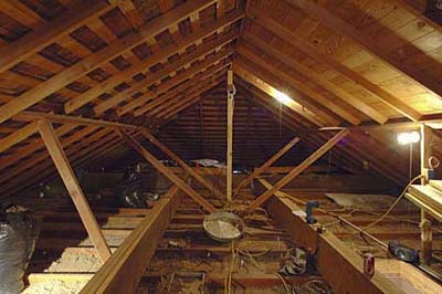 Austin House Project - Attic