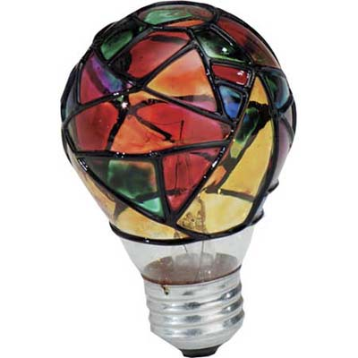 Stained glass light bulb from Ace Hardware