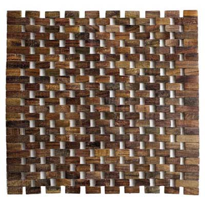 Indian rosewood placemat with anti-mold finish from Peir 1