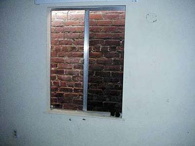 brick wall out bedroom window