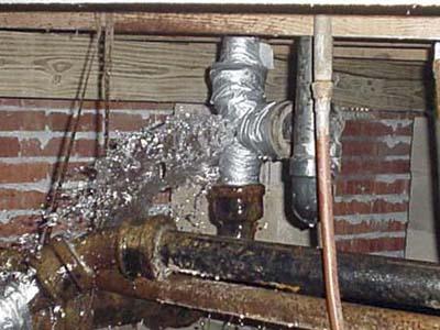 bad plumbing repair