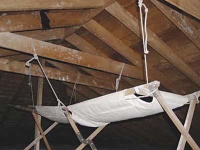 sleeping cot as rainwater collector