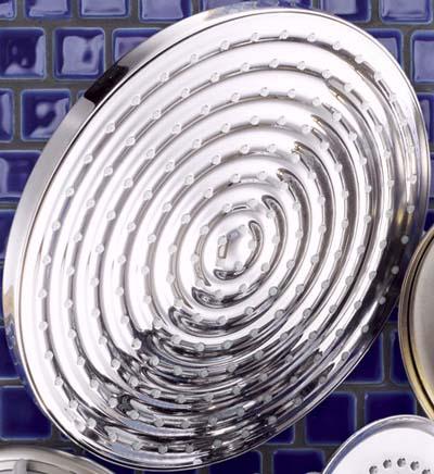 chrome disk showerhead