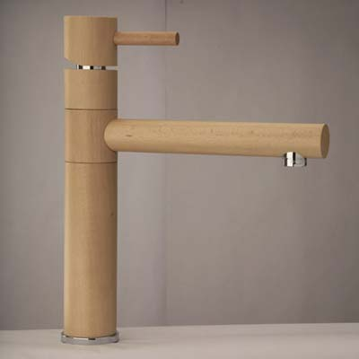 wooden kitchen faucet from Omax Woods