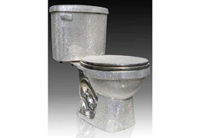toilet with rhinestones