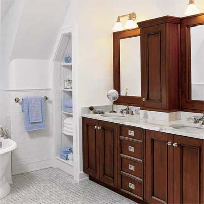 Master Bath in converted Carriage House