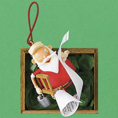 Honey-Do Santa tree ornament