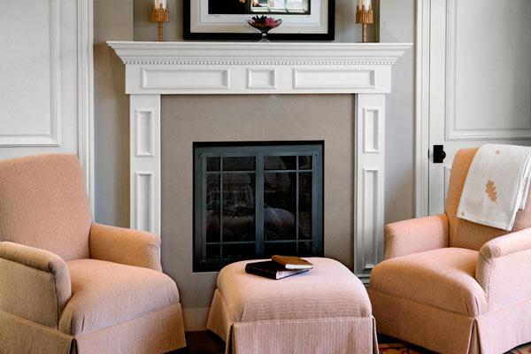 quartz used for firebox surround in living room